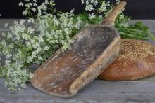 Oude houten Rijstschep