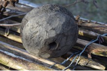 Oud houten wiel