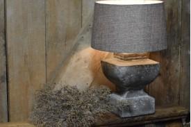 Stenen lampenvoet & lampenkap