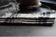 Linnen theedoek zwarte streep