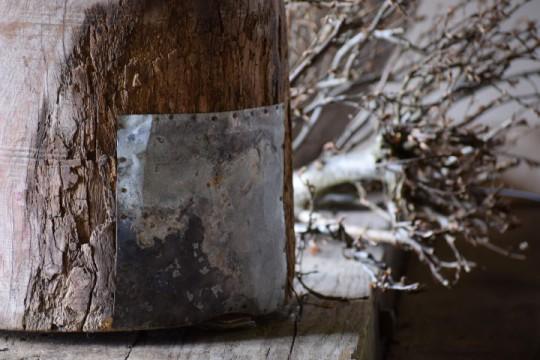 Oude houten kruik