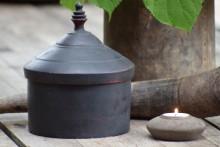 Oud zwart houten Tika pot XL 2