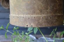 Oude ijzeren lampenkap