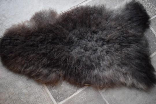 IJslandse schapenvacht zwart / bruin