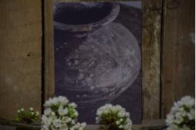Kaart houten pot