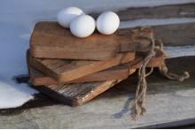 Oud houten broodplankje