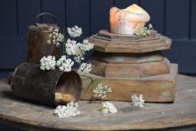 Prachtige houten kandelaar